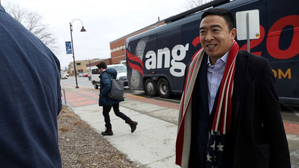 Andrew Yang draws contrasts with rest of field on new health care plan