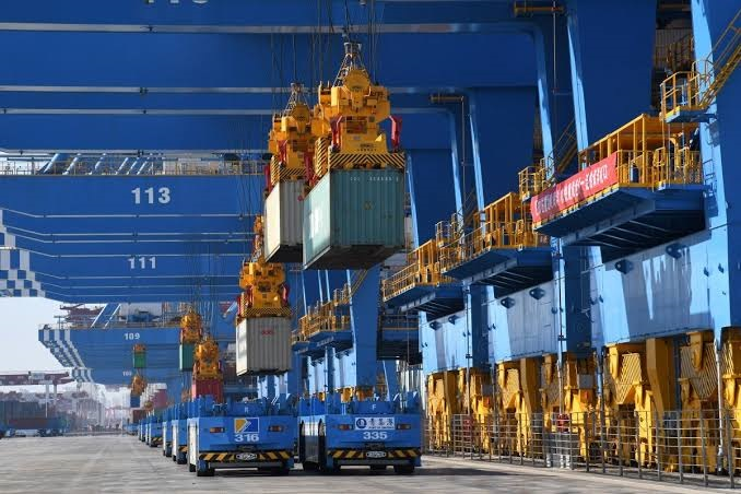 China exports fall again as US trade war continues